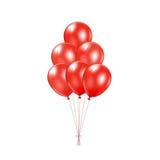 Красные воздушные шары Стоковое Изображение RF