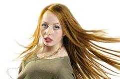 Красные волосы Стоковое Изображение RF