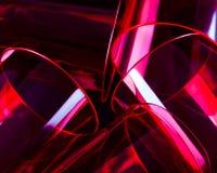 Красные выпивая стекла Стоковая Фотография