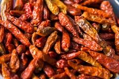Красные высушенные chilies стоковая фотография rf