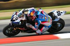 Красные гонки Bull Yamaha Стоковая Фотография