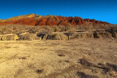 Красные горные цепи в национальном природном парке Стоковые Изображения RF
