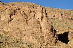 Красные горы атласа утеса в Марокко Стоковые Фото