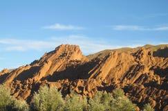 Красные горы атласа утеса в Марокко Стоковое Изображение RF
