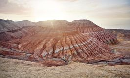 Красные горы пустыни Стоковая Фотография