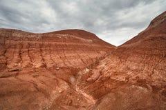 Красные горы пустыни стоковые изображения rf