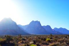 Красные горы утеса в Лас-Вегас Стоковые Изображения