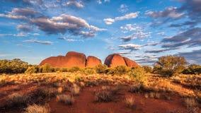 Красные горы утеса в северных территориях AustraliaHoliday в Австралии - национальный парк Campbell порта национальный парк Стоковая Фотография