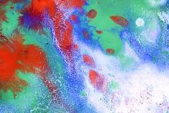 Красные, голубые, зеленые штриховатости Стоковая Фотография RF