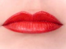 Красные губы Стоковое Фото