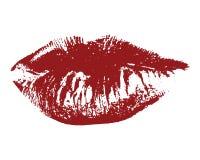 Красные губы стоковая фотография