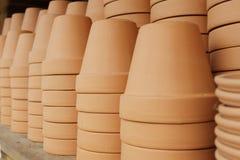 Красные глиняные горшки Стоковая Фотография