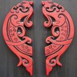 Красные деревянные рыбы Стоковое Фото
