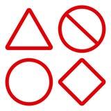 Красные дорожные знаки r бесплатная иллюстрация
