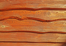 Красные деревянные планки Стоковые Фотографии RF