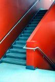 красные лестницы Стоковое фото RF
