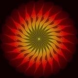 Красные желтые элементы свирли фрактали Стоковые Изображения