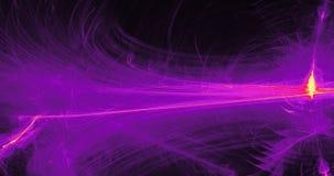 Красные желтые и фиолетовые абстрактные линии предпосылка частиц кривых Стоковые Фотографии RF