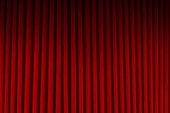 Красные занавесы кино Стоковое фото RF