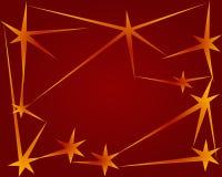 красные звезды неба Стоковая Фотография RF