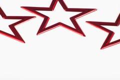 красные звезды Стоковое фото RF