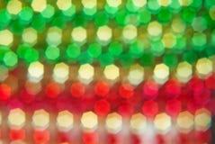 Красные, зеленые, желтые семиугольники Стоковая Фотография RF