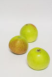 Красные зеленые яблоки изолировано Стоковое Фото