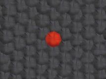 Красные зонтики черноты зонтика крася иллюстрацию Стоковое Фото