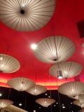 красные зонтики Стоковые Фотографии RF