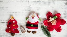 Красные игрушки рождества на белой предпосылке Стоковая Фотография RF