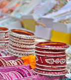 Красные, индийские bangles Стоковые Изображения RF