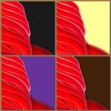 Красные линии, волновое движение, левое, предпосылка дизайна абстрактная для шины Стоковая Фотография