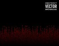 Красные линии черточки абстрактной предпосылки праздничные шуточные вертикальные на черной предпосылке вектор изображения иллюстр Стоковое Изображение RF