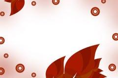 красные листья, предпосылка abstrack Стоковые Изображения RF