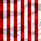 Красные и белые нашивки с яркими тенями 2 Стоковые Фото