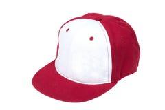 Красные и белые бейсбольные кепки цвета Стоковое Изображение