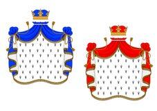Красные и голубые королевские хламиды иллюстрация штока