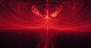 Красные и желтые абстрактные линии предпосылка частиц кривых Стоковая Фотография RF