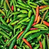 Красные и зеленые перцы Стоковые Изображения RF