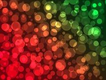 Красные и зеленые шарики с влиянием bokeh стоковая фотография