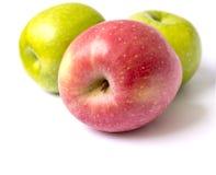 Красные и зеленые яблоки Стоковое Изображение RF