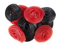 Красные и черные колеса солодки стоковая фотография rf