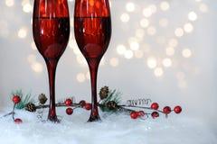 Красные каннелюры с вином Стоковая Фотография