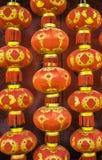 Красные китайские бумажные фонарики стоковое фото