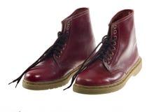 Красные кожаные ботинки Стоковое фото RF