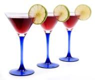 Красные коктеилы стоковое фото