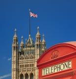Коробка телефона и дом парламента Стоковое Фото