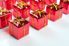 Красные коробки подарка Стоковые Изображения