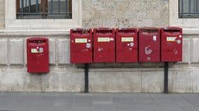 Красные коробки почты Стоковые Фотографии RF