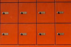 Красные коробки почты Стоковое Фото